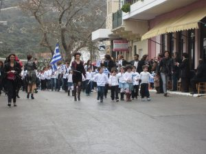 Kandanos parade on March 25th 2015